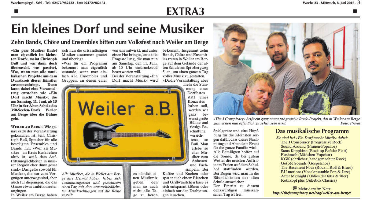 Schleidener Wochenspiegel: Ein Dorf - Macht Musik
