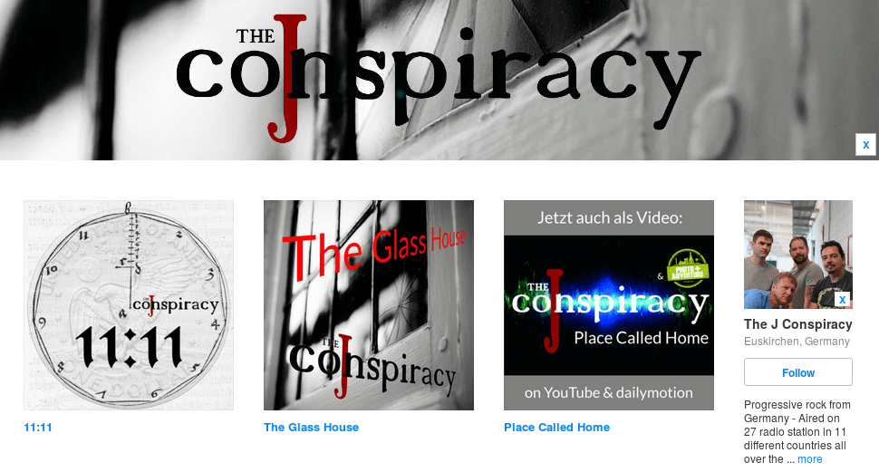 The J Conspiracy's Bandcamp profile