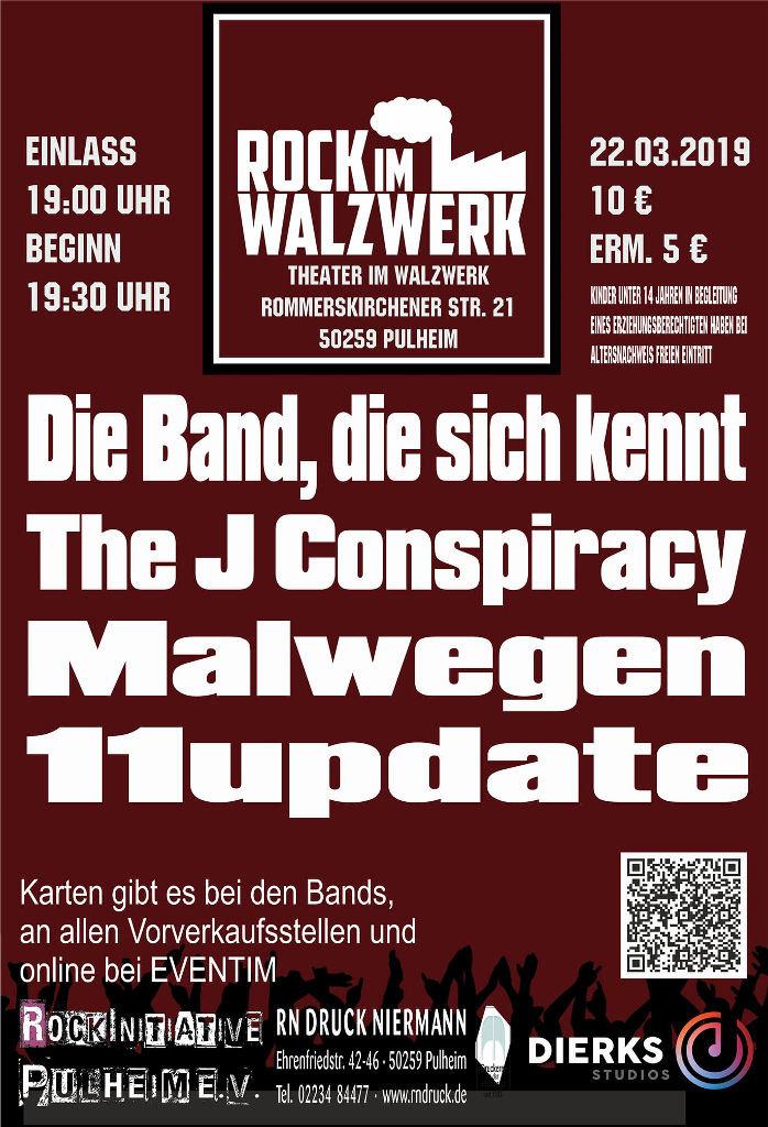 Plakat Rock im Walzwerk Pulheim 22.03.2019